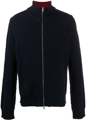 Maison Margiela Colour-Block Zip-Up Sweatshirt