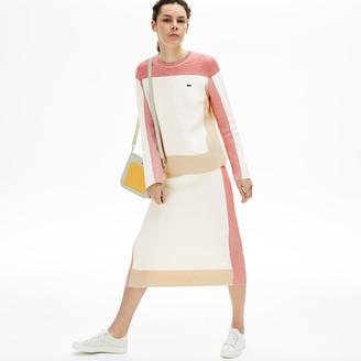 Lacoste Women's Colorblock Pencil Skirt
