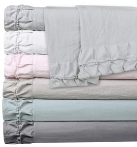 Hudson Main Clover Ruched Ultrasilk Queen Sheet Set Bedding