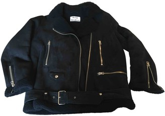 Acne Studios Velocite Shearling Leather Jacket for Women
