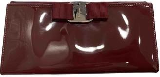 Salvatore Ferragamo Burgundy Patent leather Wallets