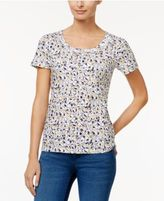 Charter Club Printed Cotton T-Shirt, Only at Macy's