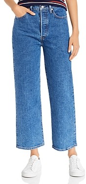 Levi's Rib Cage Straight-Leg Jeans in Georgie