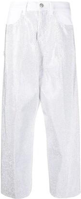 Golden Goose Rhinestone-Embellished Cropped Jeans