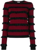 RED Valentino ruffled detail sweatshirt - women - Polyamide/Viscose - S