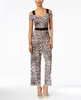 Thalia Sodi Off-The-Shoulder Printed Jumpsuit, Created for Macy's