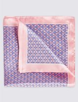 Marks and Spencer Pure Silk Printed Pocket Square