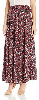 James & Erin Women's Wrap Skirt