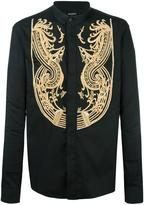 Balmain embroidered concealed fastening shirt