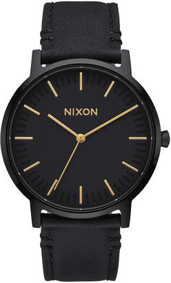 Nixon Men Porter Leather Strap Watch 40mm