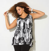 Avenue Graphic Chevron Embellished Tank