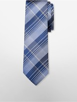Calvin Klein Steel Tonal Plaid Tie