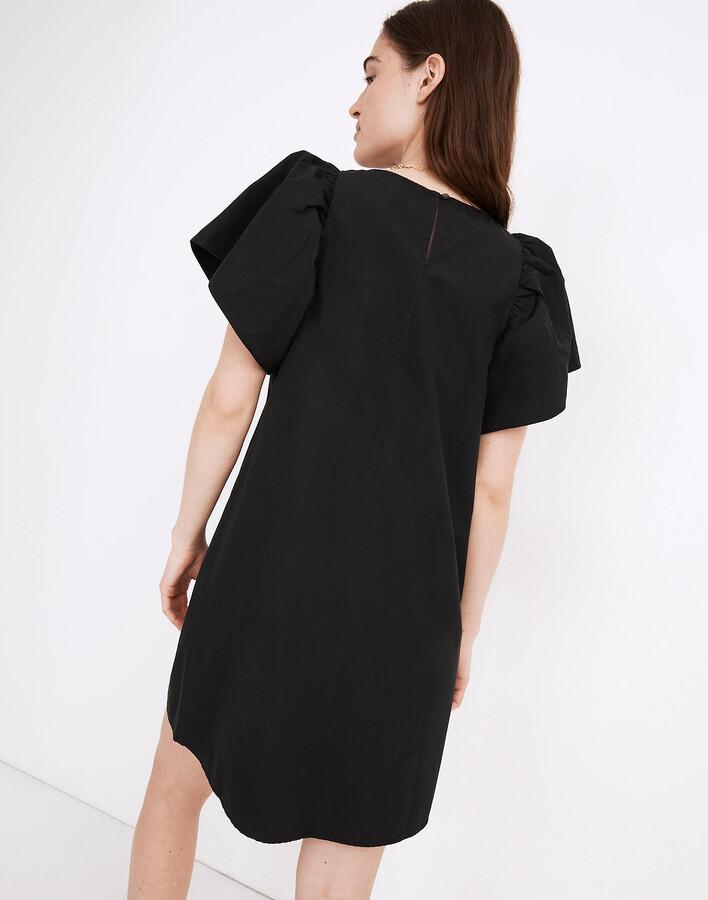 Thumbnail for your product : Madewell Poplin Flutter-Sleeve Shift Dress