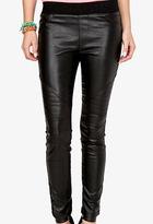 Forever 21 Faux Leather Moto Leggings