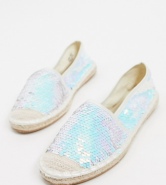 Simply Be wide fit sequin espadrille