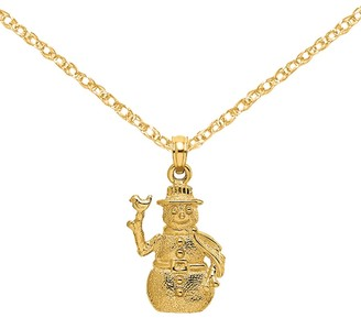14K Yellow Gold Best Friends Forever Break Apart Charm with 18-inch Chain by Versil