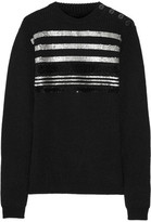 Sonia Rykiel Sequined Ribbed Wool-Blend Sweater