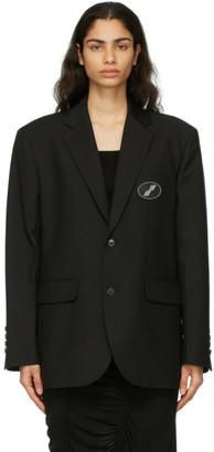we11done Black Oversized Logo Blazer