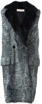 Marni fur sleeveless coat - women - Cotton/Polyester/Triacetate/Beaver Fur - 40