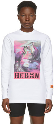 Heron Preston White Heron Birds Long Sleeve T-Shirt