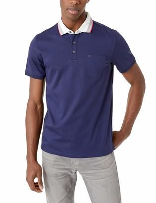 Calvin Klein Men's Short Sleeve Jacquard Polo Shirt