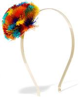 Rosantica Guatemala Gold-tone Pompom Headband - one size