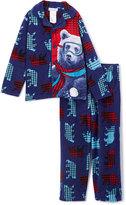 Komar Kids Blue Check Bear Pajama Set - Boys