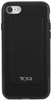 Tumi Leather Co-Mould Case with 4000mAh Portable Battery Bank set for iPhone 7, Black