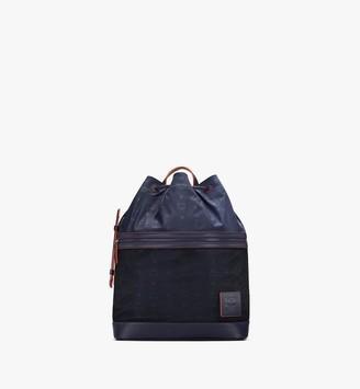 MCM Klassik Drawstring Backpack in Monogram Nylon