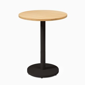 west elm Small Wood Top Round Bistro Table - Sand