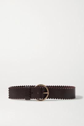 Black & Brown + Net Sustain Sienna Scalloped Leather Waist Belt - 65