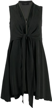 AllSaints V-neck zipped up dress