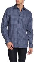 Hickey Freeman Mercer Plaid Long Sleeve Regular Fit Shirt