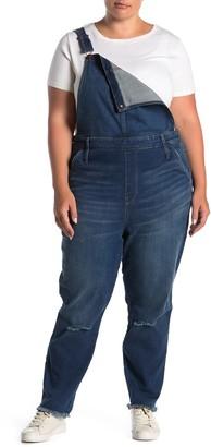 Madewell Distressed Fray Hem Overalls (Regular & Plus Size)