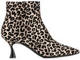 Casadei Thypno leopard ankle boots