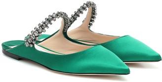 Jimmy Choo Exclusive to Mytheresa Bing Flat satin slippers
