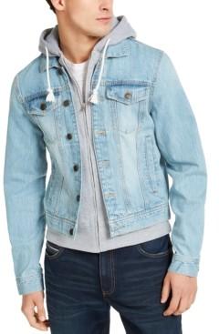 Sun + Stone Men's Phoenix Trucker Hooded Denim Jacket, Created for Macy's