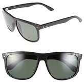 Ray-Ban Men's 'Boyfriend' 60Mm Polarized Sunglasses - Black/ Green P