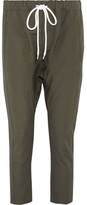 Bassike Cotton And Linen-blend Pants - Army green