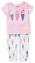 Joules Baby Girls Newborn-12 Months Winn Ice Cream Top & Printed Pants Set
