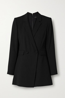Alice + Olivia Kyrie Double-breasted Crepe Playsuit - Black