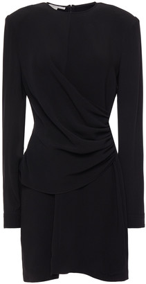 Stella McCartney Ruched Crepe Mini Dress