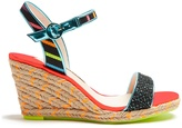 Sophia Webster Lucita multicoloured espadrille wedge sandals