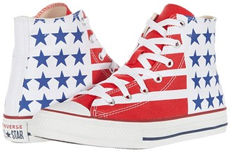 Converse Chuck Taylor(r) All Star(r) Americana - Hi (Little Kid/Big Kid) (White/Red/Navy) Kid's Shoes