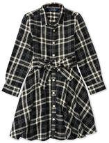 Ralph Lauren Girls 2-6x Plaid Cotton Shirtdress