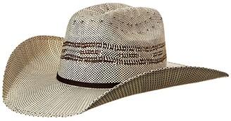 M&F Western Twister Bangora Cowboy Hat (Little Kids/Big Kids) (Brown/Chocolate Band) Cowboy Hats