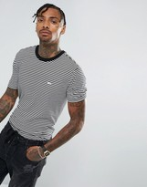 Obey Striped T-shirt With Small Logo