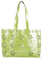 Moschino Patent Leather Laser-Cut Tote