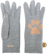 Moschino paw intarsia gloves