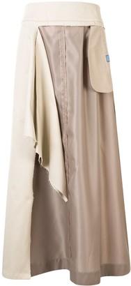 Maison Mihara Yasuhiro Layered Maxi Skirt